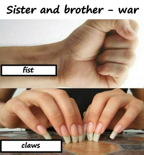 Sister and brother - war