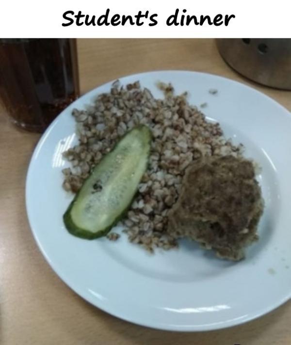 Student's dinner