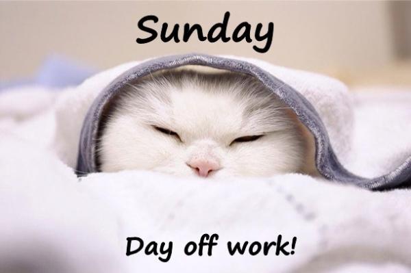 Sunday - Day off work!