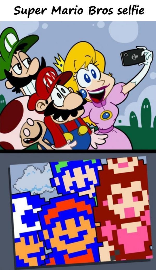 Super Mario Bros selfie