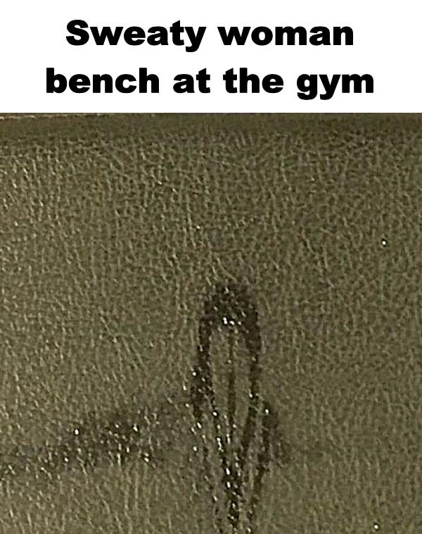 Sweaty woman bench at the gym