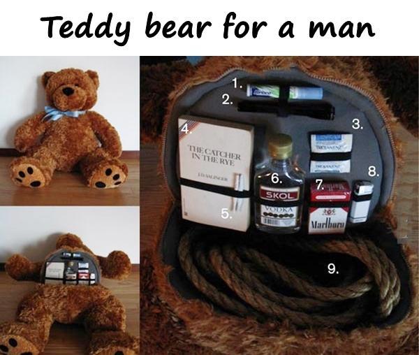 Teddy bear for a man