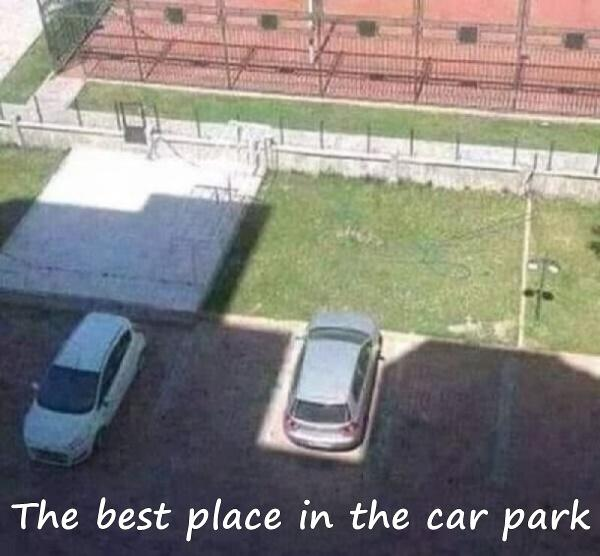 The best place in the car park