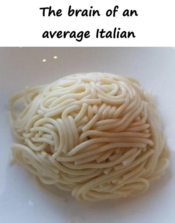 The brain of an average Italian
