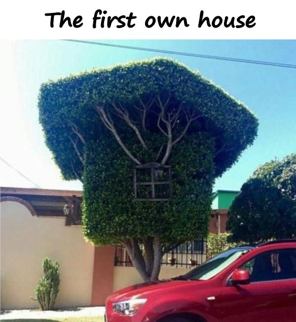 The first own house