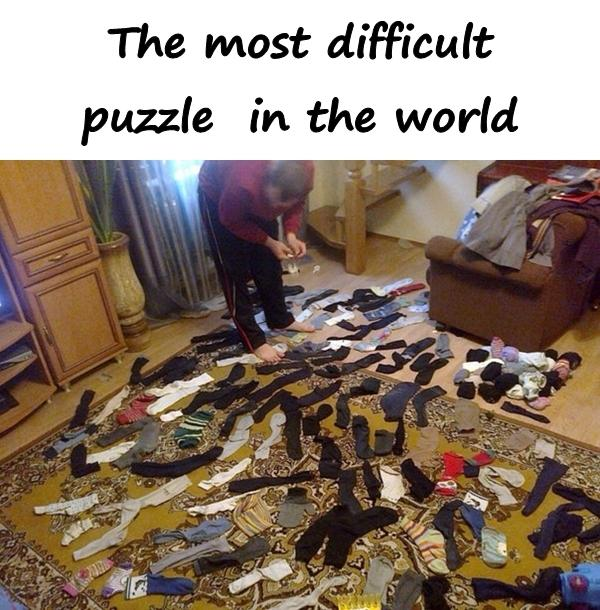 The most difficult puzzle in the world