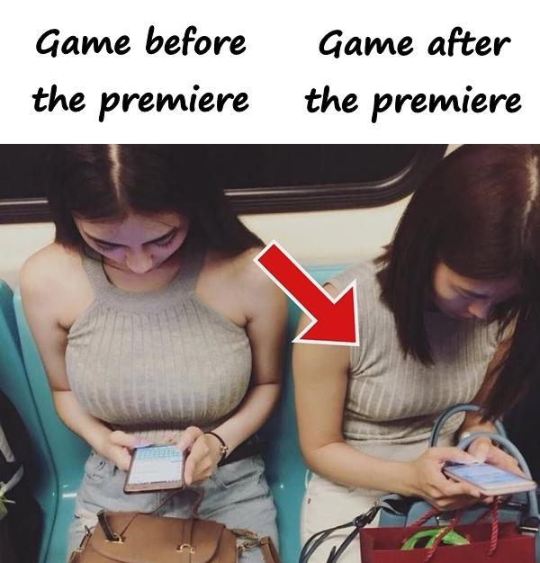 The premiere of the game