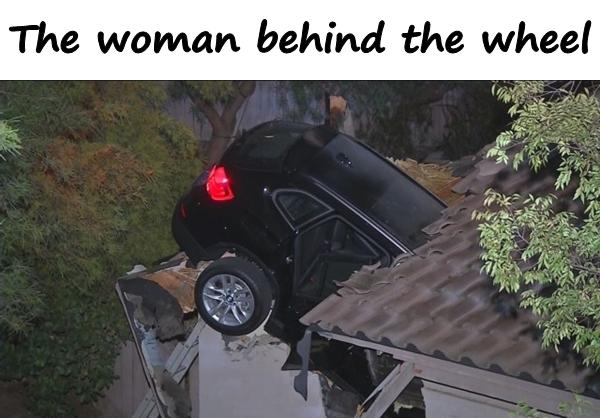 The woman behind the wheel