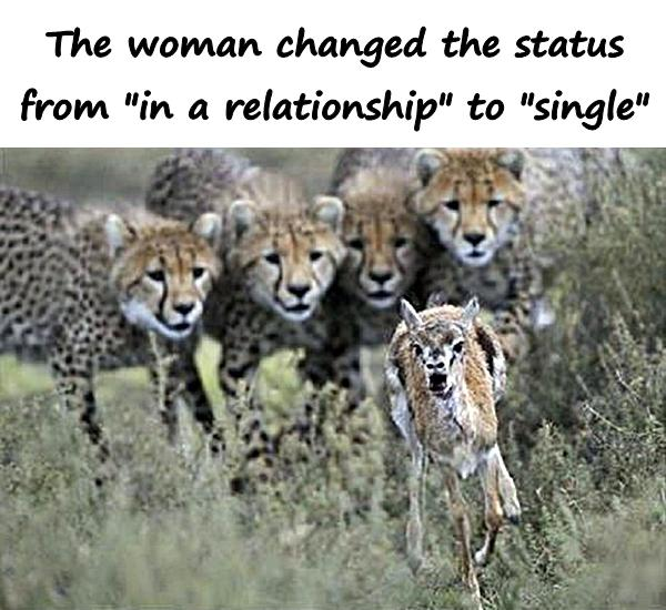 The woman changed the status from