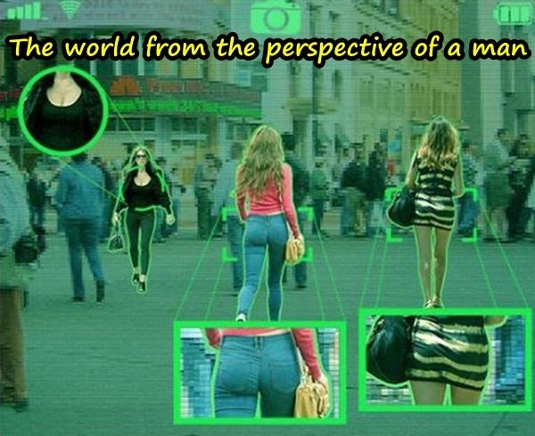 The world from the perspective of a man
