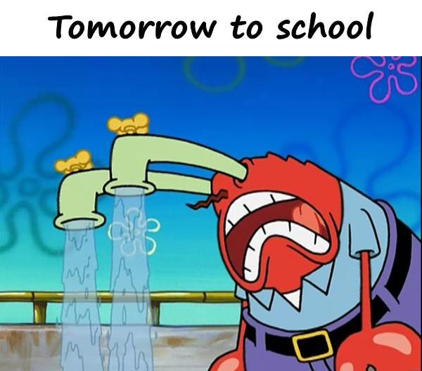 Tomorrow to school