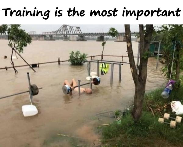Training is the most important