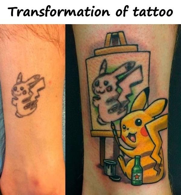 Transformation of tattoo