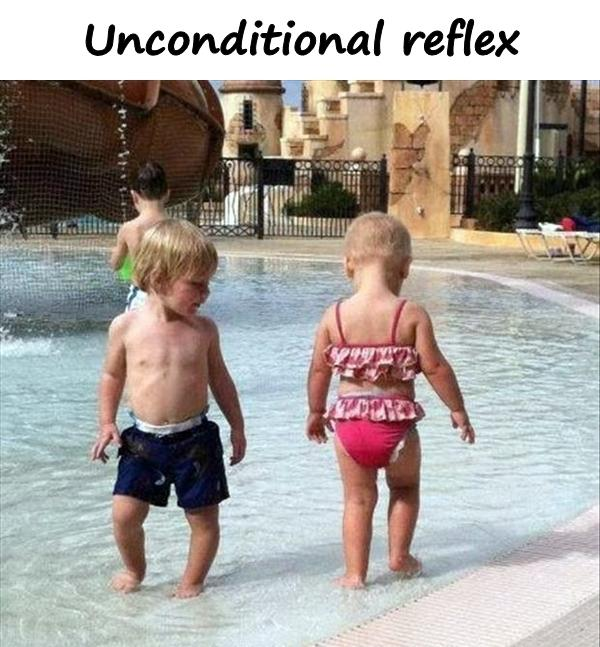 Unconditional reflex