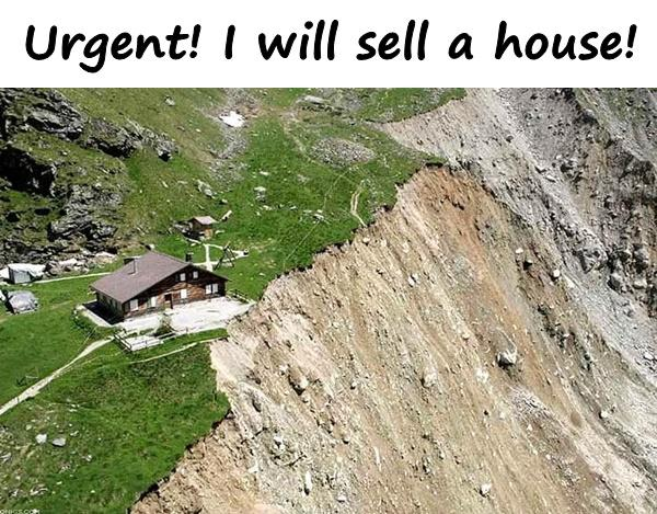 Urgent! I will sell a house!