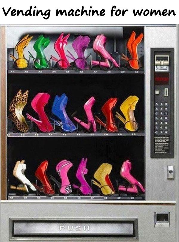 Vending machine for women