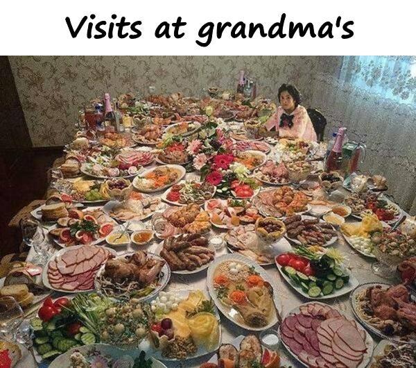 Visits at grandma's