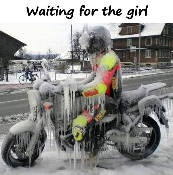 Waiting for the girl
