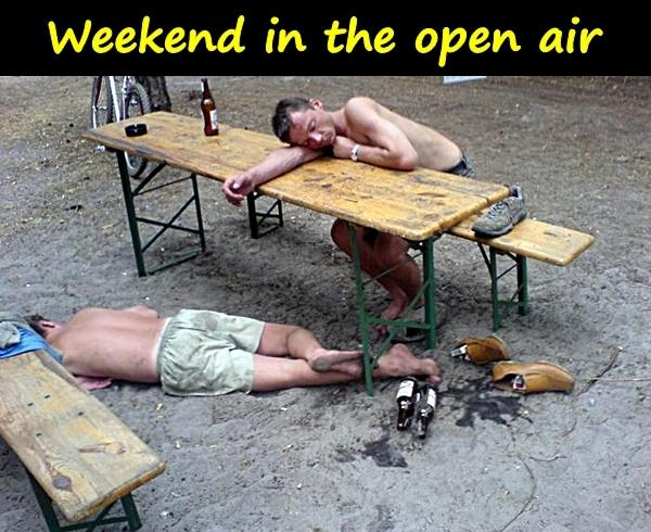 Weekend in the open air