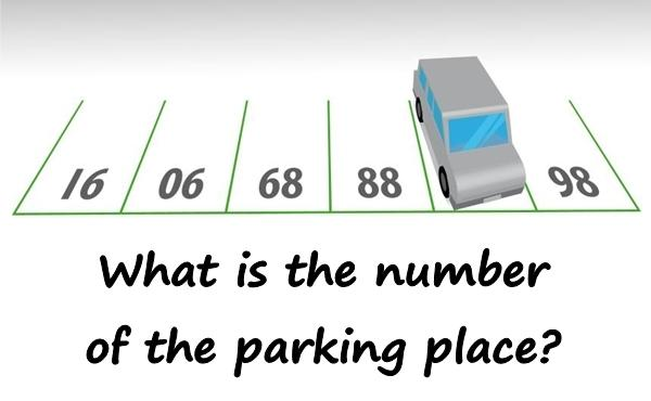 What is the number of the parking place?