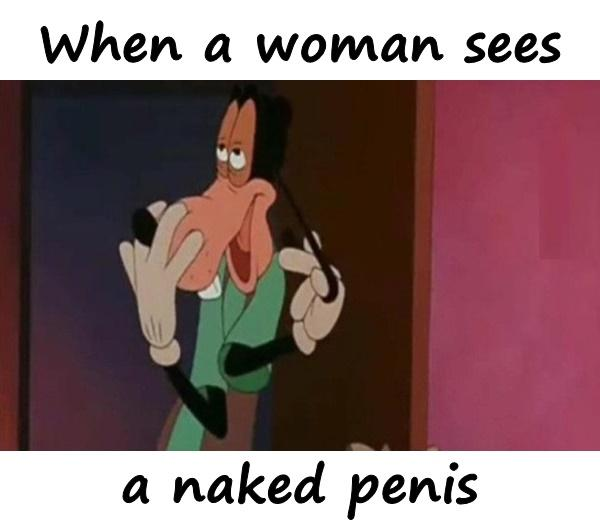 When a woman sees a naked penis