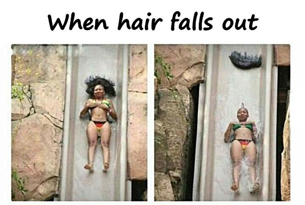 When hair falls out
