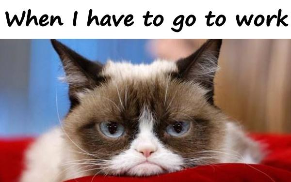 When I have to go to work