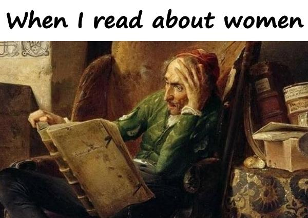 When I read about women