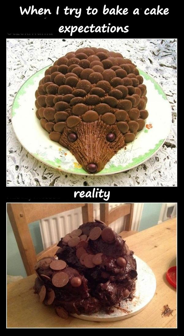 When I try to bake a cake