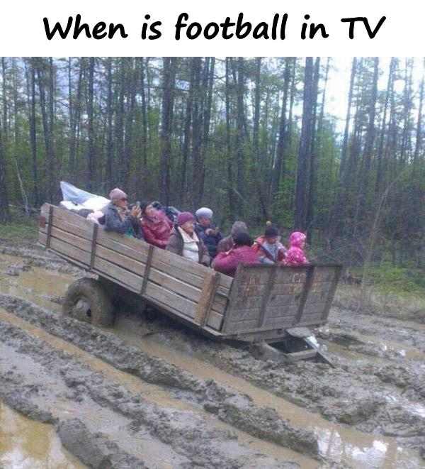 When is football in TV