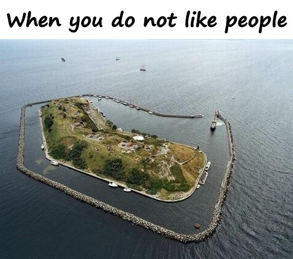 When you do not like people