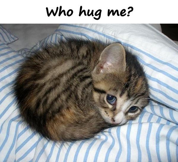 Who hug me?