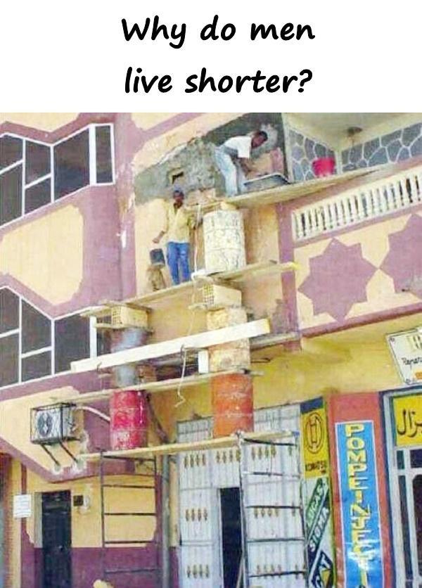 Why do men live shorter?