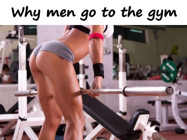 Why men go to the gym