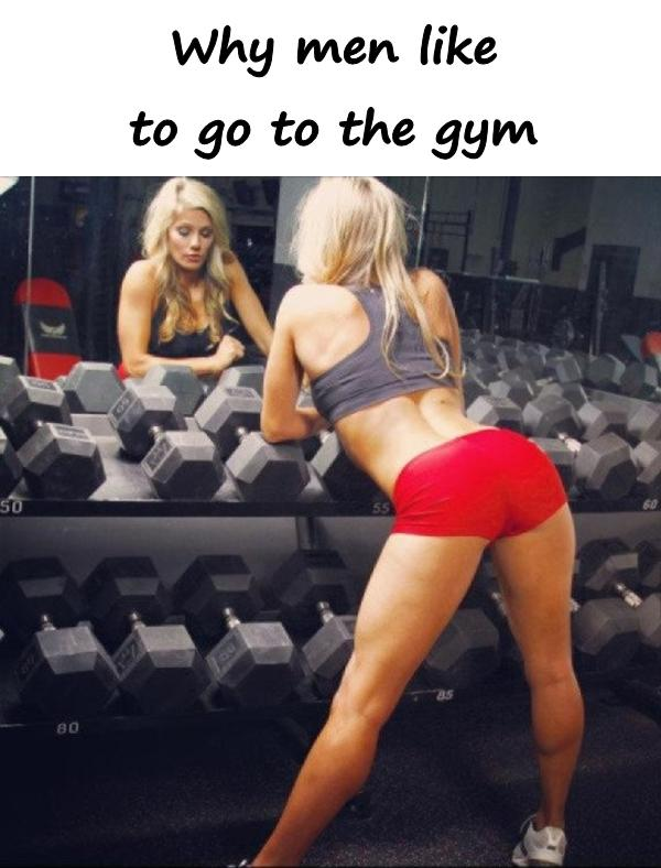 Why men like to go to the gym