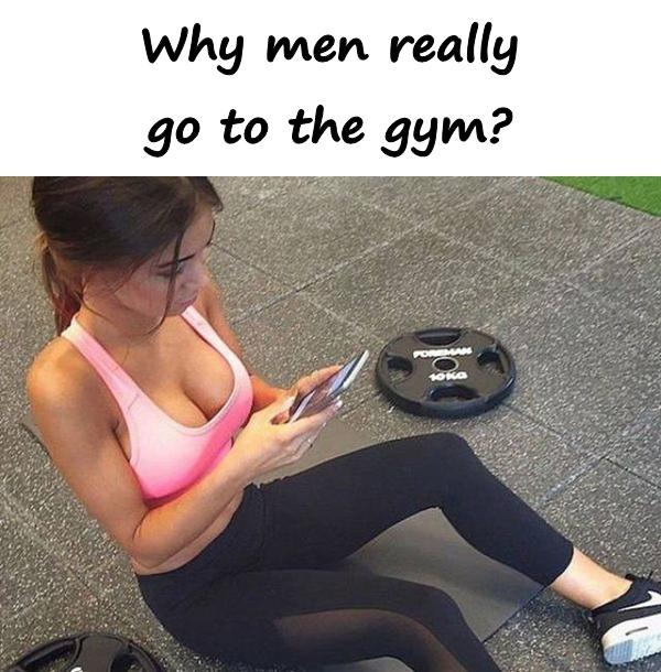 Why men really go to the gym?