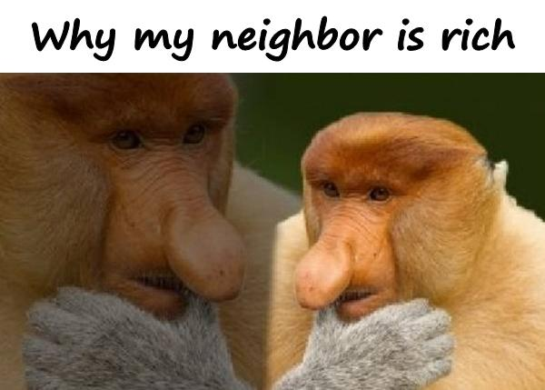 Why my neighbor is rich