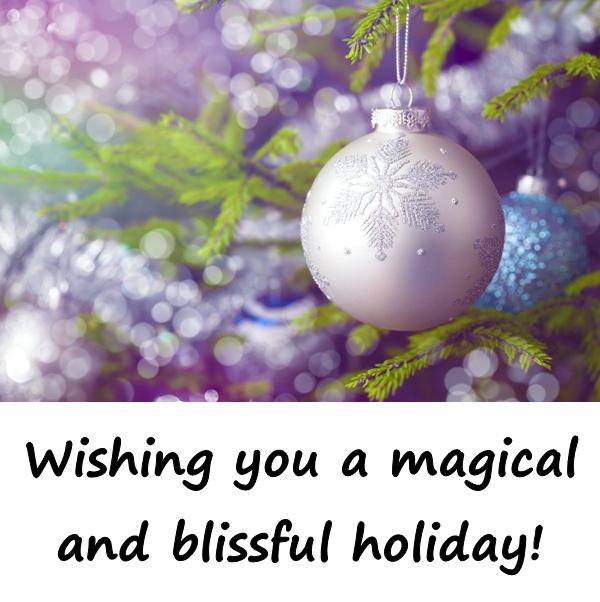 Wishing you a magical and blissful holiday!