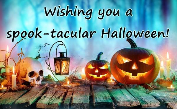 Wishing you a spook-tacular Halloween!