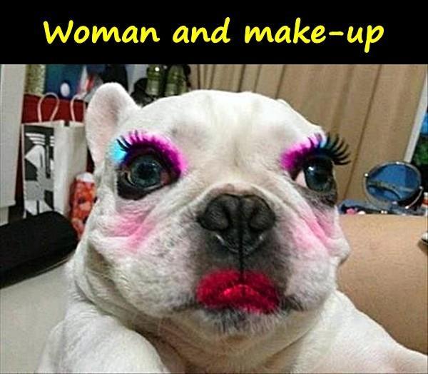 Woman and make-up