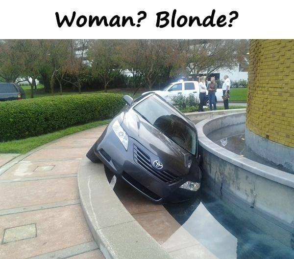 Woman? Blonde?