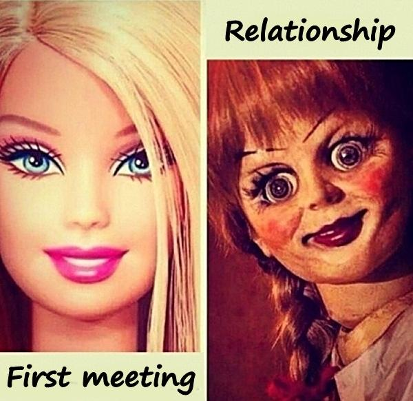 Woman - first meeting and relationship