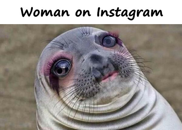 Woman on Instagram