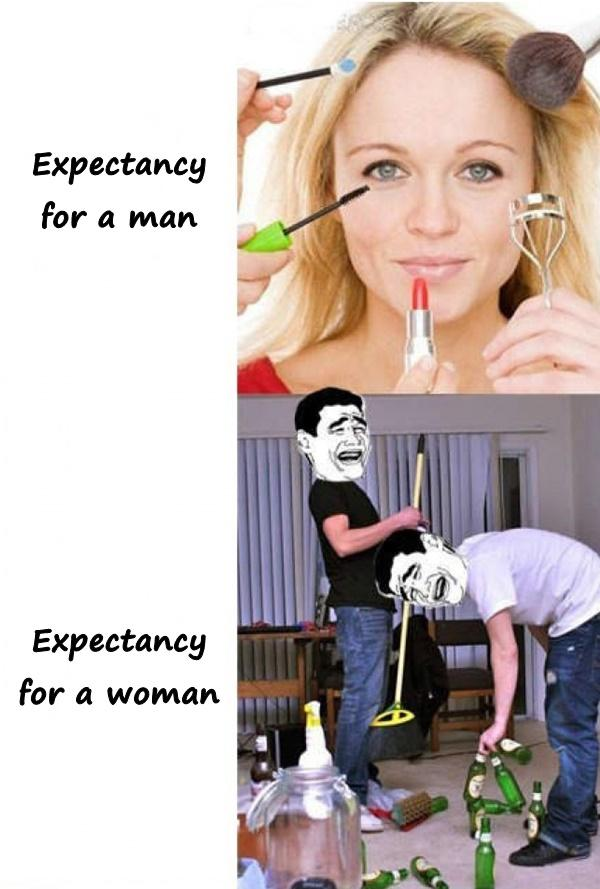 Woman vs. man