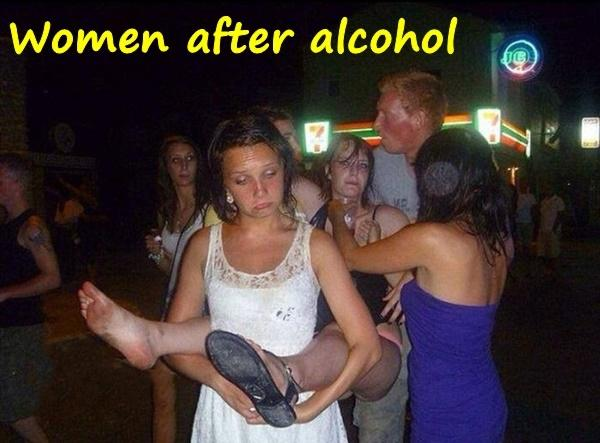 Women after alcohol