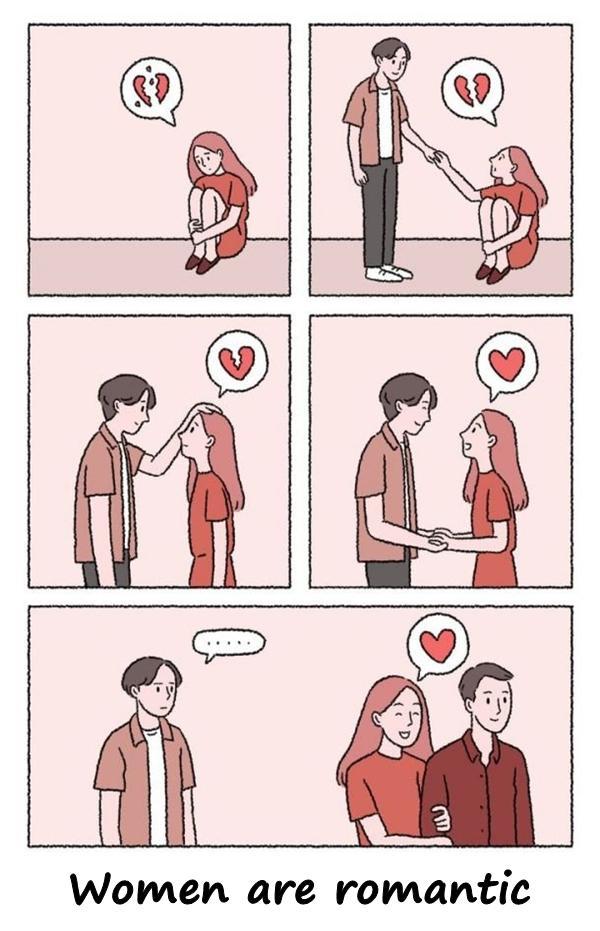 Women are romantic