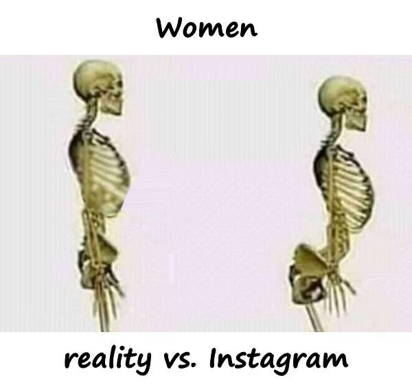 Women - reality vs. Instagram