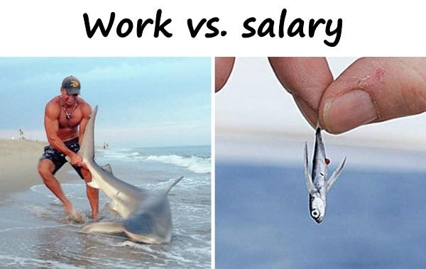Work vs. salary