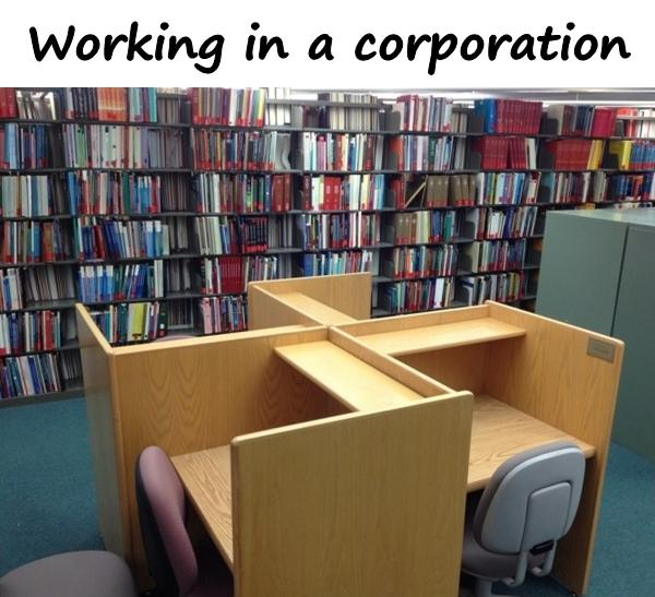 Working in a corporation