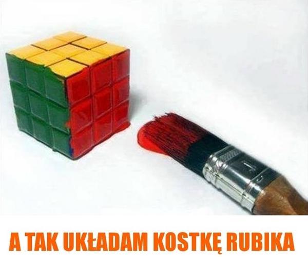 A tak układam kostkę Rubika